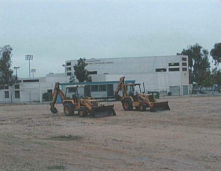 Bulldozers breaking ground